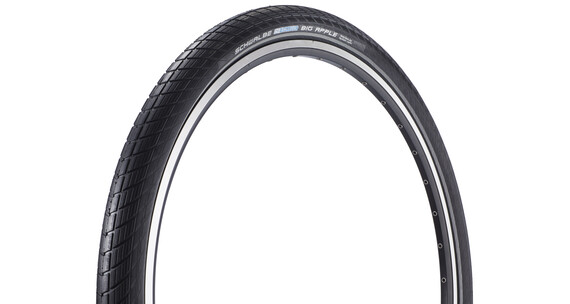 "SCHWALBE Big Apple - Pneu - Performance 28"" RaceGuard rigide Reflex noir"